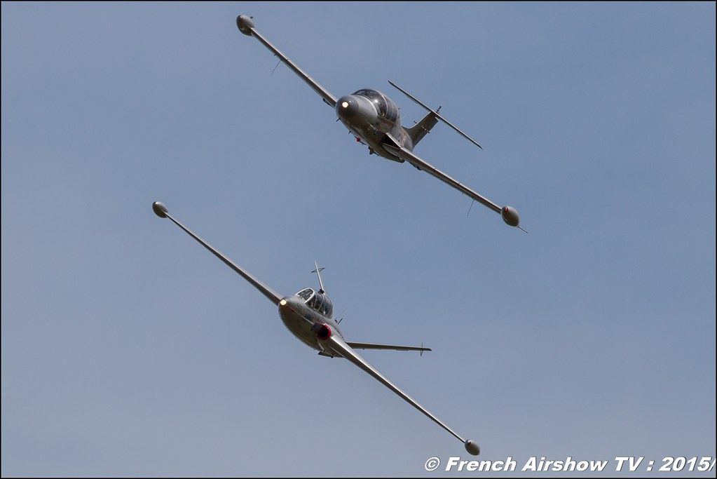 Fouga CM-170 Magister,F-AZZP,Morane MS 760 Paris, Fly in LFBK 2015 - Fly in Saint Yan 2015, Meeting Aerien 2015