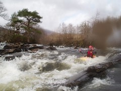 Tim shooting one of the first rapids on the river Image