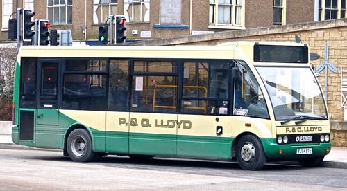YJ54 BTE 'P&O Lloyd of Bagilt' Optare Solo. on 'Dennis Basford's 'railsroadsrunways.blogspot.co.uk'
