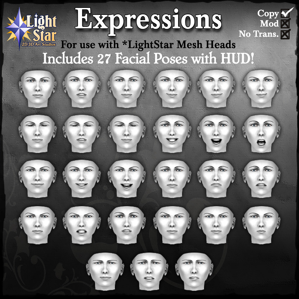 *LightStar-Expressions-Pack1 - SecondLifeHub.com