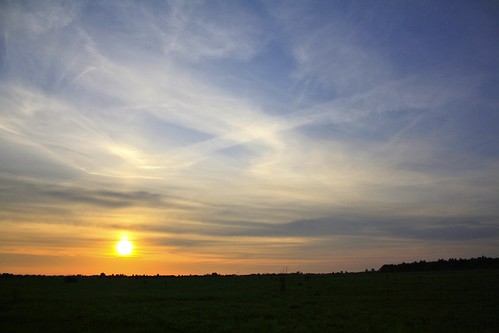 light sunset sky sun nature night cloudy poland kroczewo
