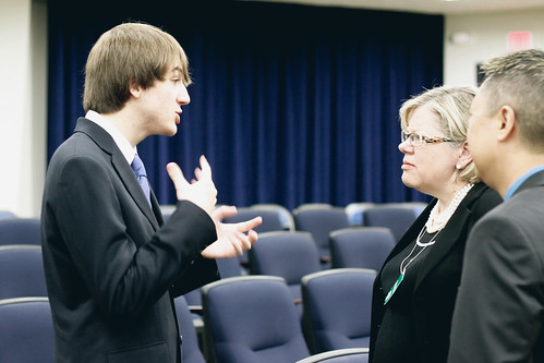 16-year-old Open Science Champion and Open Access advocate Jack Andraka, with Lisa Fields of TEDMED