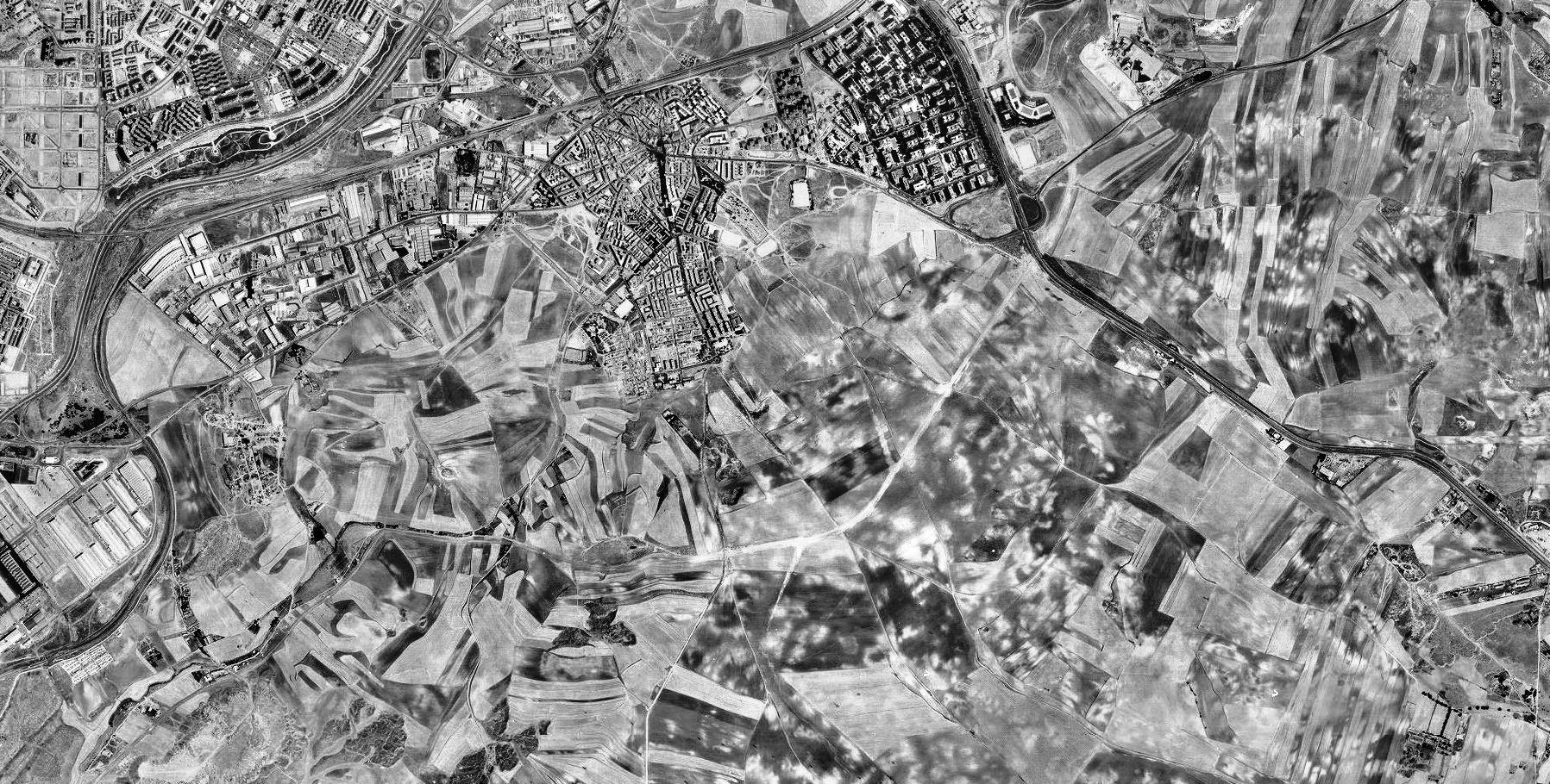 antes, urbanismo, foto aérea, desastre, urbanístico, planeamiento, urbano, construcción, ensanche de Vallecas, Vallecas, Madrid
