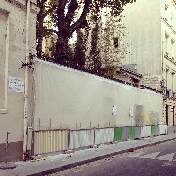 Derniers jours de travaux au 5bis rue de Verneuil #gainsbourg #sergegainsbourg
