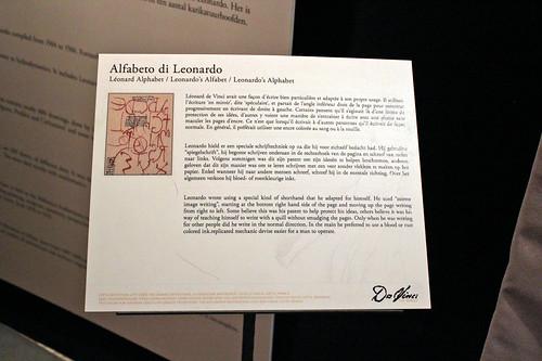 Leonardo's alphabet