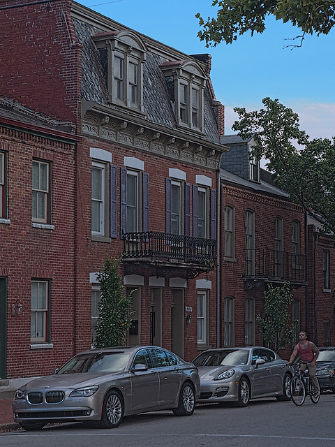 Soulard Neighborhood, in Saint Louis, Missouri, USA - townhouses
