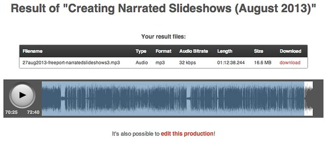 "Result of ""Creating Narrated Slideshows (August 2013)"""