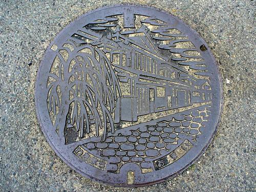 Waki Tokushima , manhole cover (徳島県脇町のマンホール)