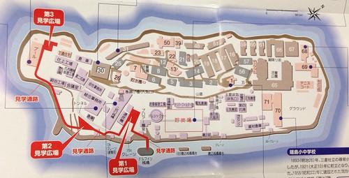 軍艦島の見学コース