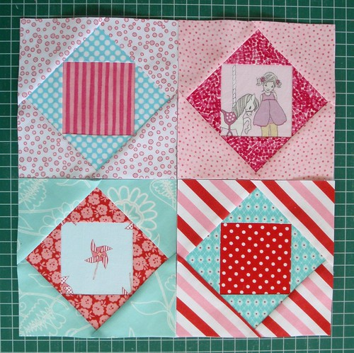Square in Square quilt blocks