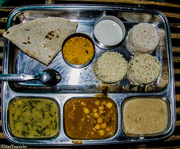Indian Veg Thali at Aahaar Kuteer Restaurant