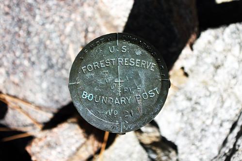 Forest Reserve Marker No. 21