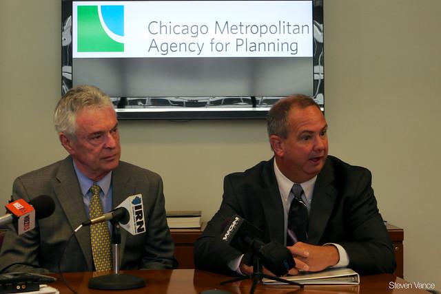 CMAP board chair Gerald Bennett and CMAP CEO Randy Blankenhorn