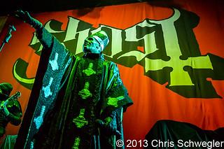 Ghost @ Hail to the King Tour, Joe Louis Arena, Detroit, MI - 10-13-13