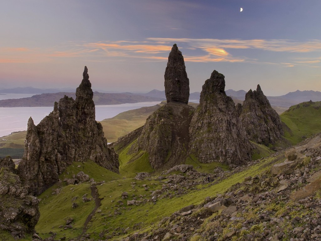 Storr sunset.