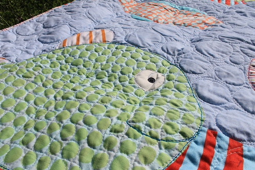 Cyrus' Fish Baby Quilt