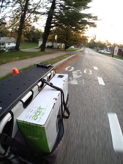 "23"" monitor on an XtraCycle"