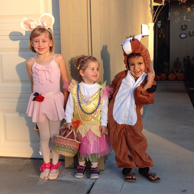 Love them! Angelina Ballerina, Fancy Nancy, and a horse!