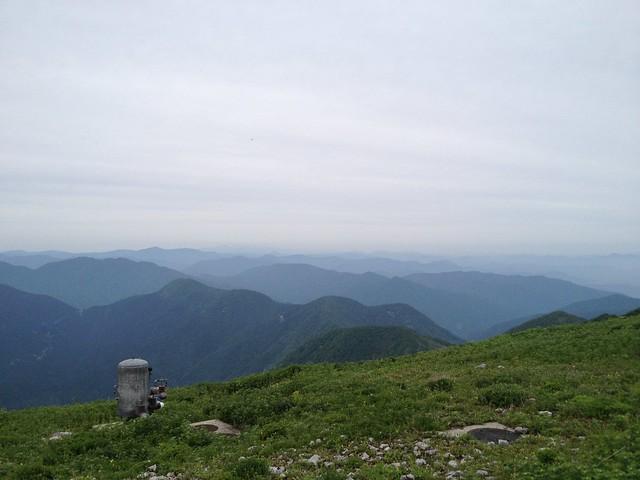 伊吹山 山頂からの展望 北尾根