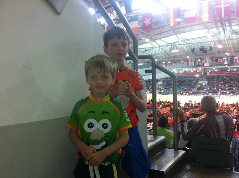 Kids at Manchester Velodrome