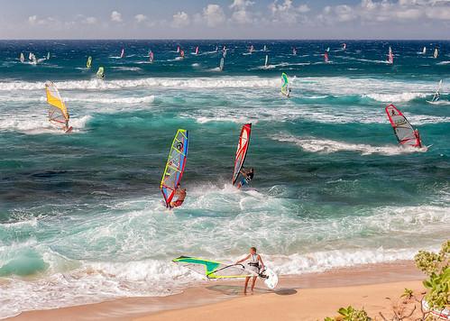 ocean beach hawaii maui windsurfing hookipa nikon2470mm nikond700
