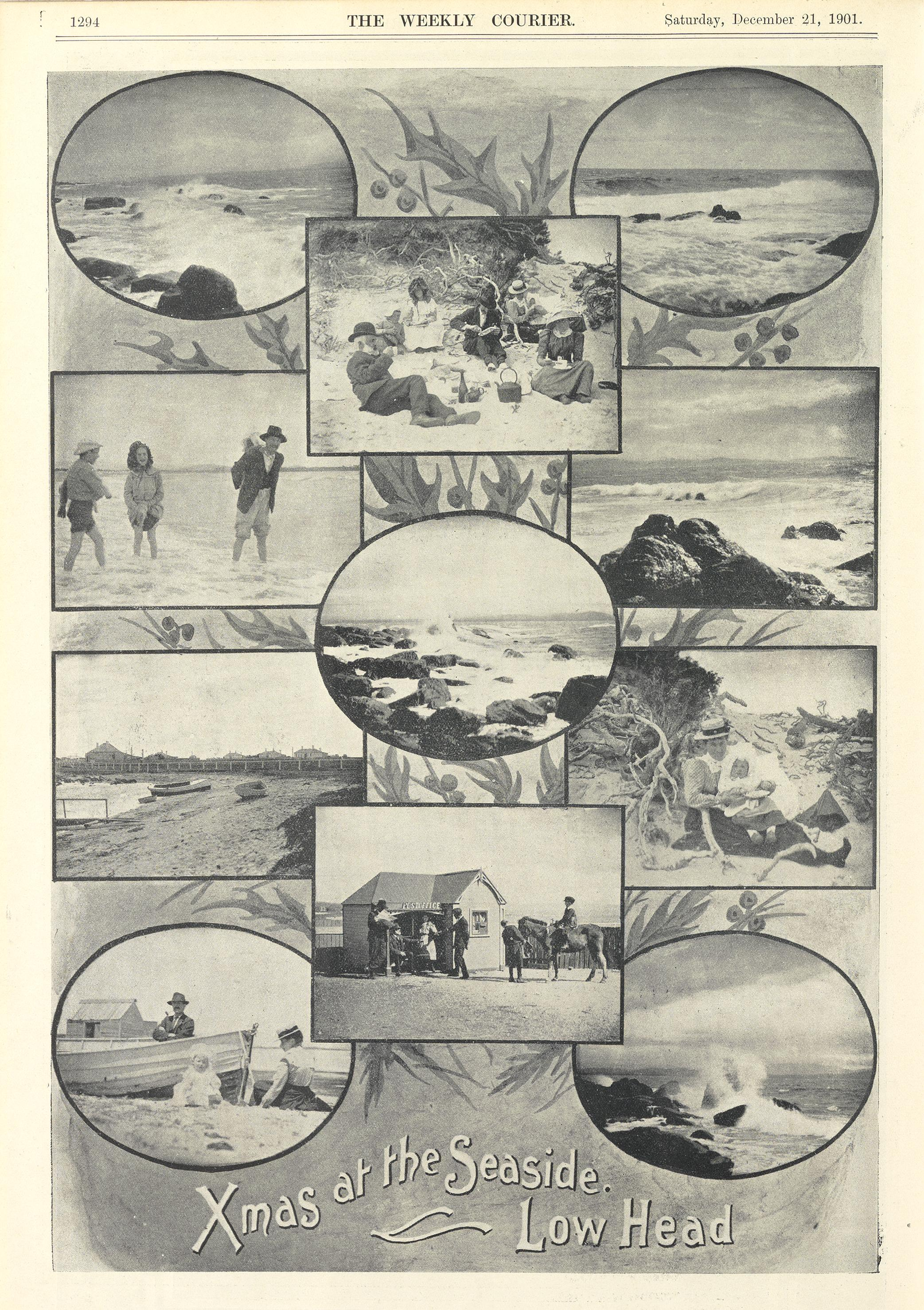 Xmas at the seaside, Low Head (Weekly Courier Newspaper - 21 Dec 1901, p1294)