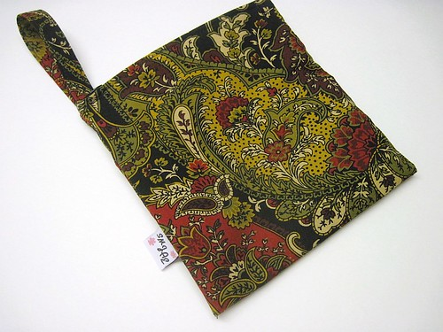 Gold/Black/Red Paisley New Style Mama Wet Bag