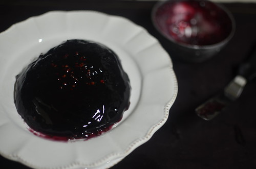Zobo (Roselle/Hibiscus) Jelly, with white peppercorns and dried red chilie