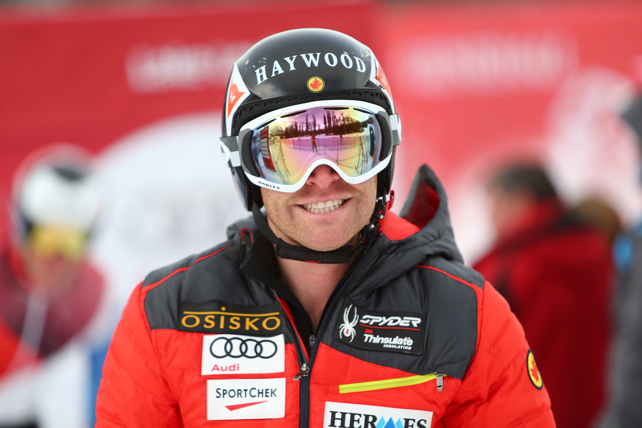Robbie Dixon is all smiles in Lake Louise, CAN during a free ski