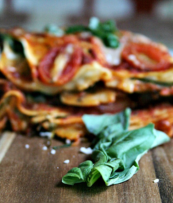 Tomato and Basil Lasagne with Spinach #ad #pmedia #joytothetable