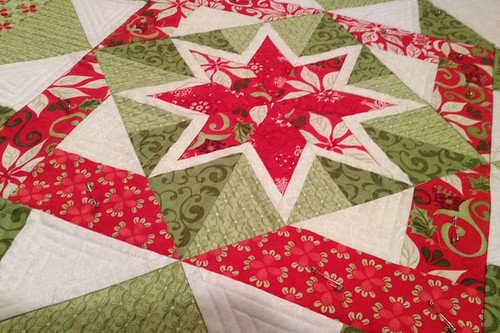 Christmas Star Quilt_wip