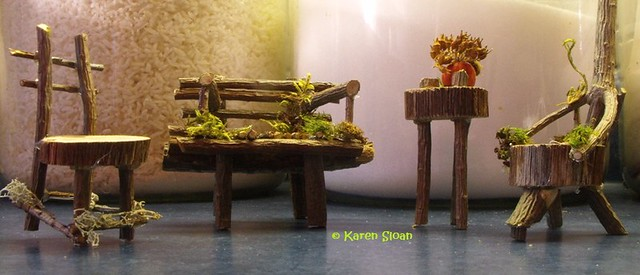 Fairy garden furniture set