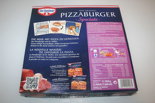 02 - Dr. Oetker Pizzaburger Speciale - Packung hinten / Wrapping back