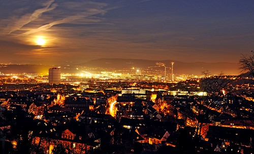 Fullmoon above Stuttgart I - #FLICKR12DAYS