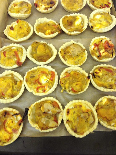 squash, pepper and onion quichelets