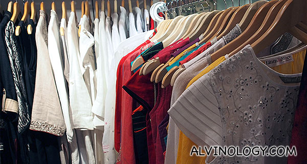 Linen shirts and dresses on sale