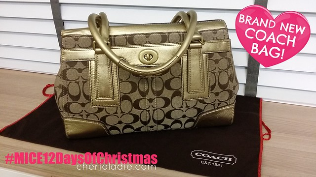 Authentic Coach Bag to give away, #MICE12DaysofChristmas