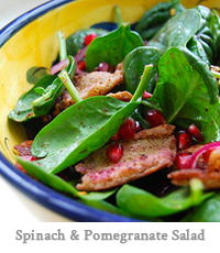 Spinach & Pomegranate Salad