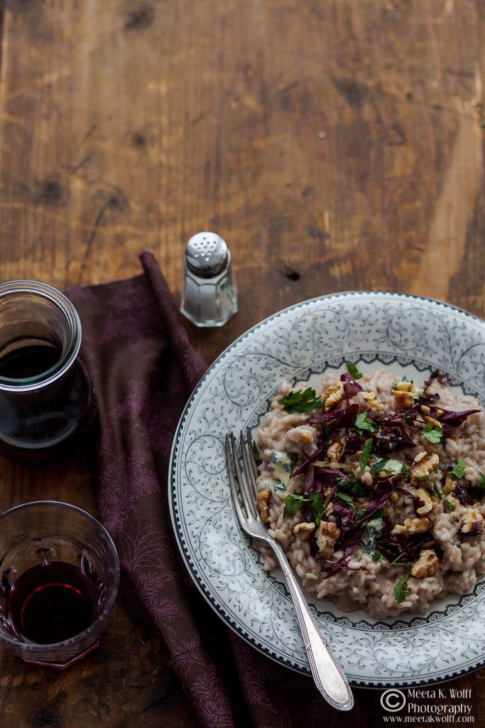 Risotto-Roquefort Radicchio and Toasted Walnuts by Meeta K. Wolff