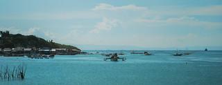 Fishing boats wait