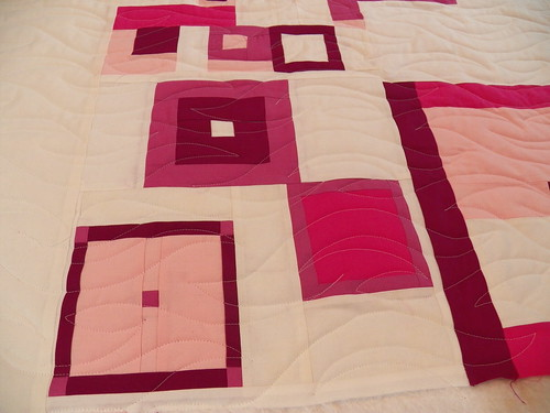 Modern Improv quilt. Ebb and Flow panto