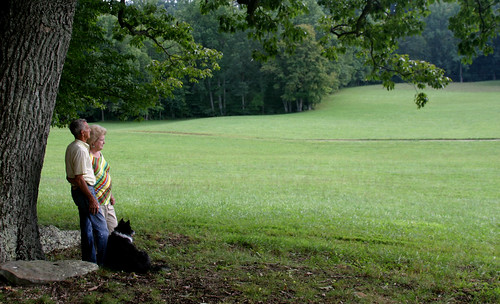 James and Gail Cope look out over their land in Kentucky. USDA photo.