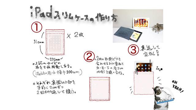 iPadスリムケースの作り方