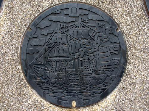 Shimoda Shizuoka, manhole cover (静岡県下田市のマンホール)