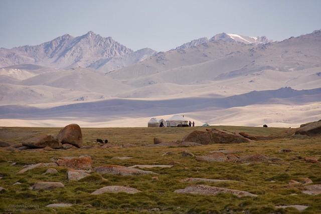 Yurt, Kyrgyzstan Steppe.