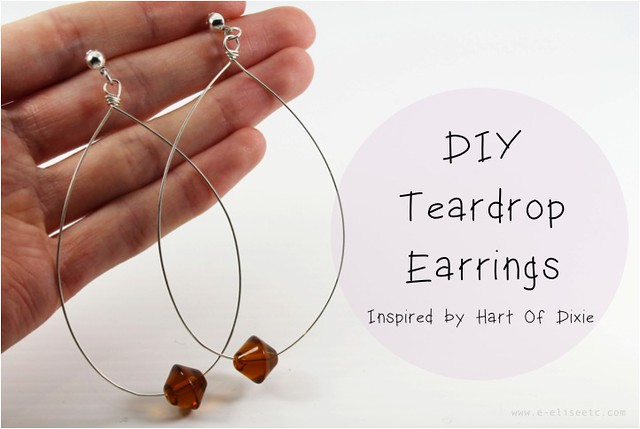 diy teardrop earrings 1