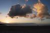 Llundudno beach at sunset
