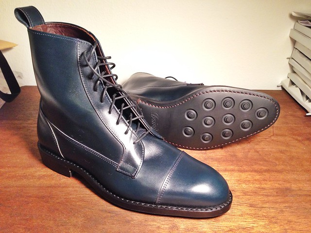 Allen Edmonds Eagle County Navy Calfskin