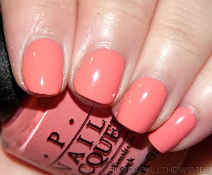 coca-cola by opi swatches- sorry i'm fizzy today