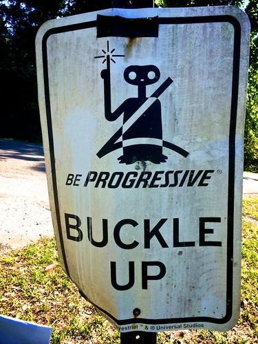Progressive's ET Buckle Up sign @ West Blocton
